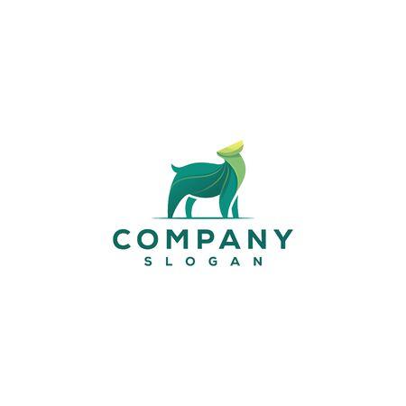 abstract deer logo design vector