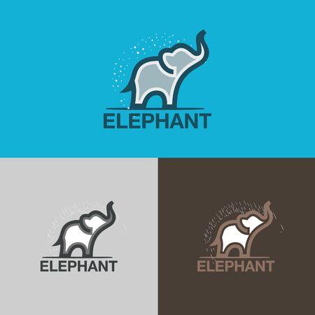 modern elephant logo design vector Иллюстрация