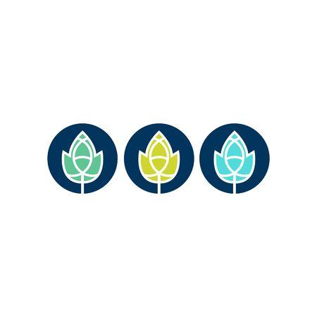 modern leaf logo design vector