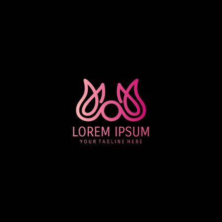 abstract lotus logo design vector Иллюстрация