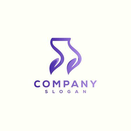 music leaf logo design vector