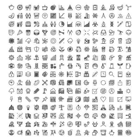 business icon collection logo design vector Иллюстрация