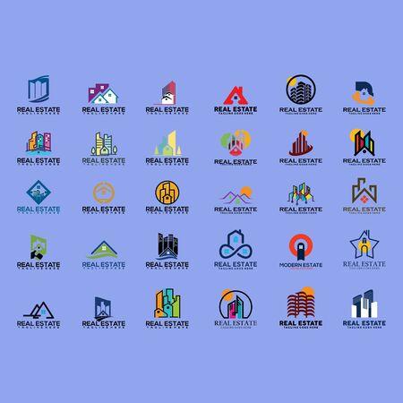 set of business logo design vector Иллюстрация