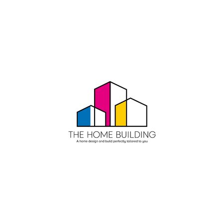 business real estate logo design vector Иллюстрация