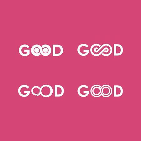 set of good infinity logo design vector Иллюстрация