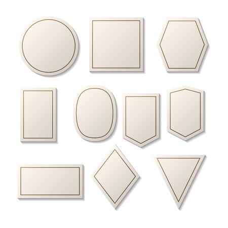 set of geometric shape collection logo