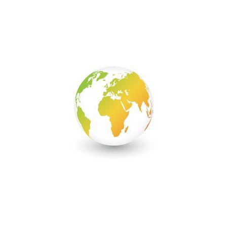 green world earth logo design vector