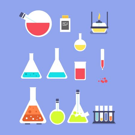 set of lab logo design vector