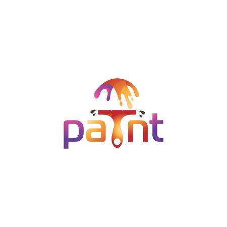 abstract paint logo design vector