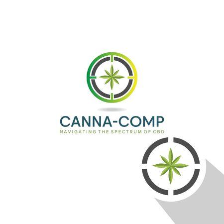 Canna comp logo design  on white