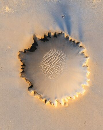 Victoria crater, an impact crater at Meridiani Planum, near the equator of Mars.