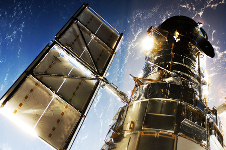 The Hubble Space Telescope. This image furnished by NASA Archivio Fotografico - 136263408