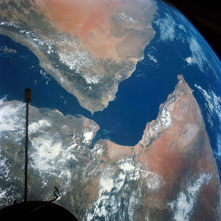 Arabian Peninsula and northeast Africa as seen from the orbiting Gemini-11. Original from NASA. Digitally enhanced by rawpixel. Sajtókép