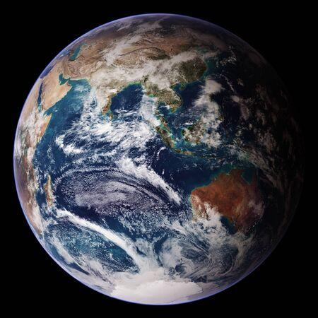 NASA/Goddard Space Flight Center/Reto Stöcklis unglaublich schöne Aussicht auf die Erde aus dem All. 9. Oktober 2007. Dieses von der NASA bereitgestellte Bild