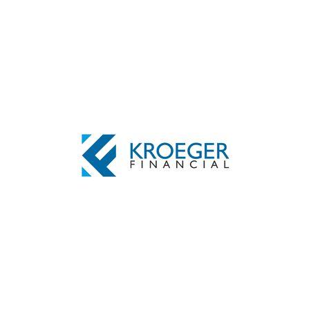 KF letter design vector template Illustration