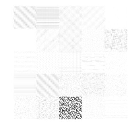 set of abstract seamless pattern background design vector template