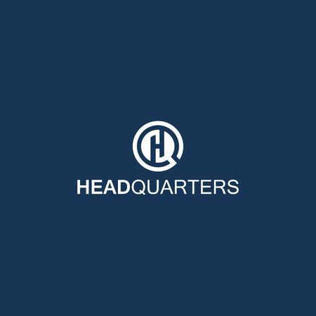 GH GHQ letter design vector template