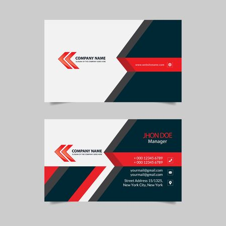 business card design vector template
