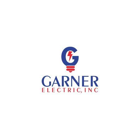 G letter with lightning bulb  design vector template