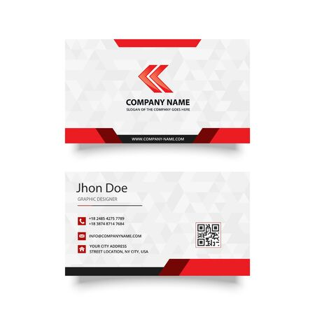modern and creative business card design vector template Illustration