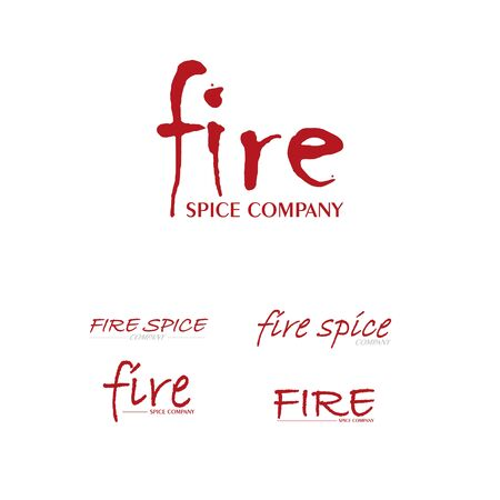 abstract fire design vector template