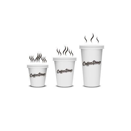 glass white mug design vector template Illustration