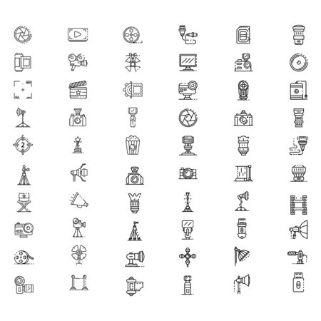 set of business icon symbol  design vector template