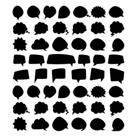 set of bubble spech design vector template