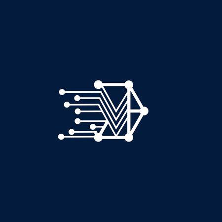 business technology design vector template
