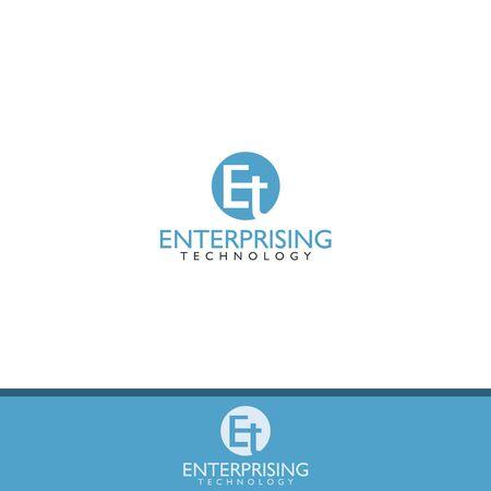 ET letter  design vector template Illustration