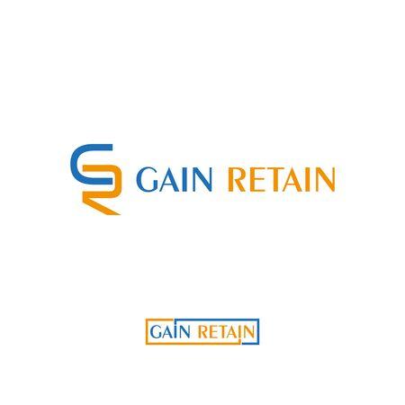 CR GR letter  design vector template Illustration