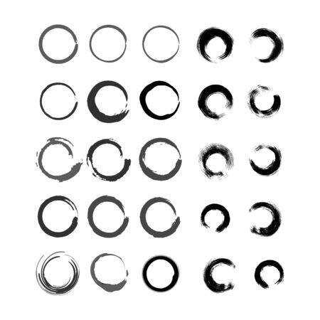abstract circle  design vector template Illustration