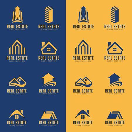 set of business real estate  design vector template