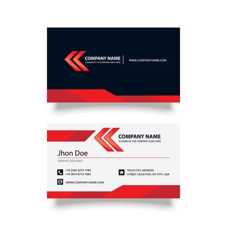 modern business card  design vector template Illustration