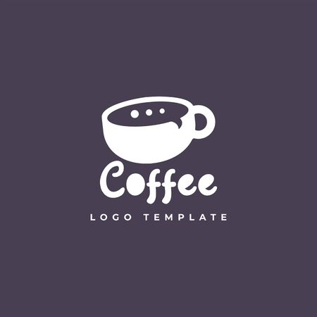 chat coffee design vector template