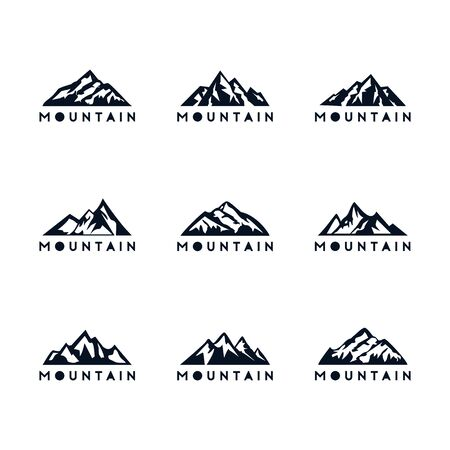 set of mountain adventure design vector template