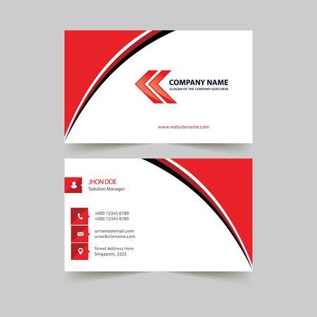 modern business card technology design vector template Illustration
