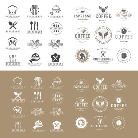 set of food and drink  design vector template