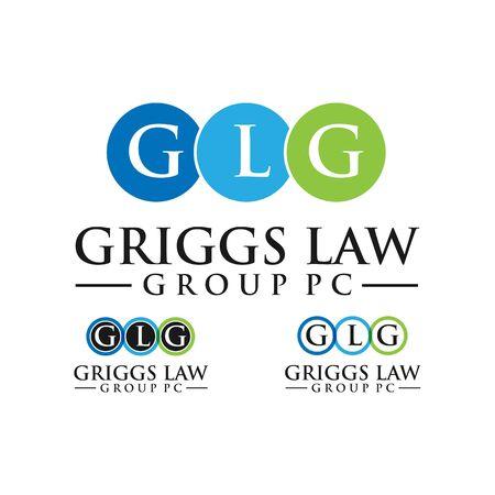 business GLG letter  design vector template Stock Vector - 139986614