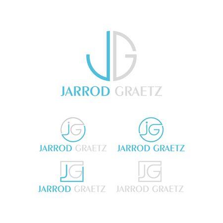 set of business JG letter design vector template