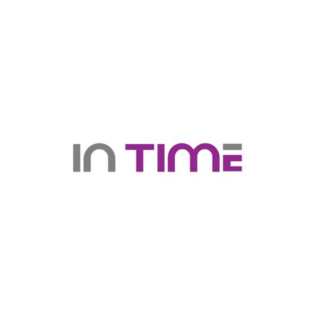 in time design vector template