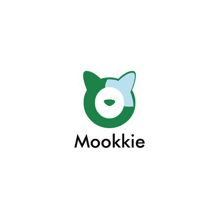 abstract cat mookie alarm design vector template
