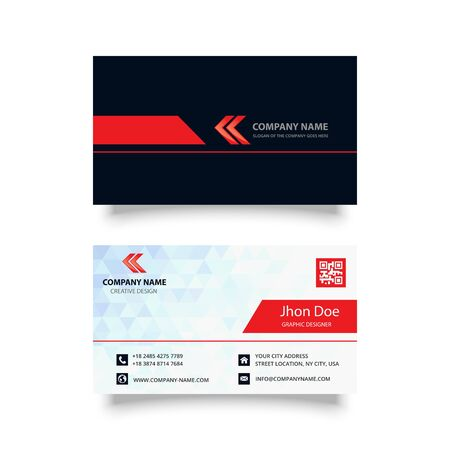 modern and creative business card  design vector template