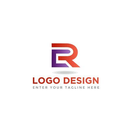 CR letter business logo design vector Logó