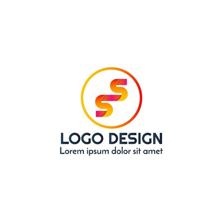 SS letter abstract business logo design vector template element Illustration