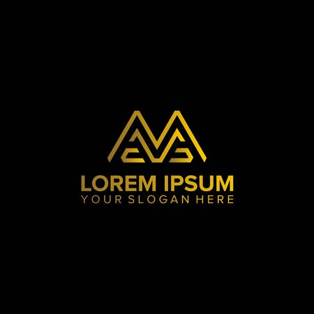 MC letter abstract business logo design vector template element Illustration
