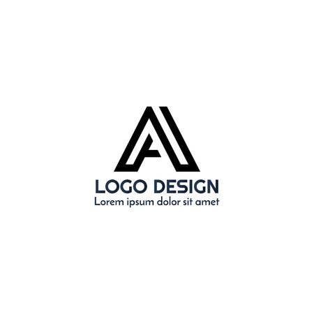 abstract business logo design vector template element with A letter