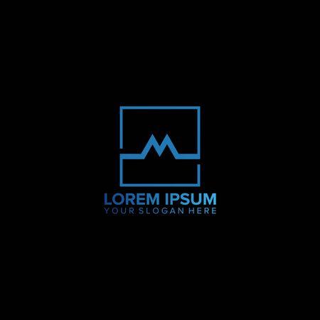 M letter business logo design vector template