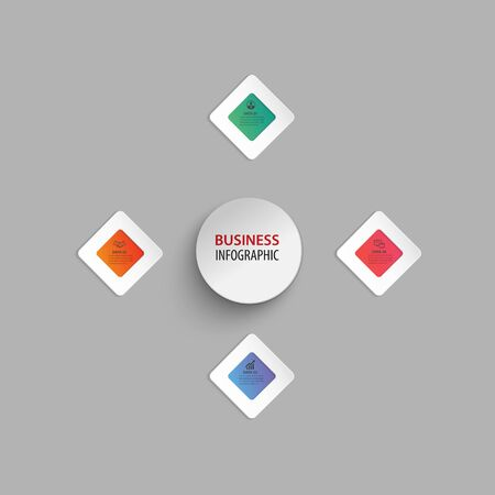 infographic business design vector template