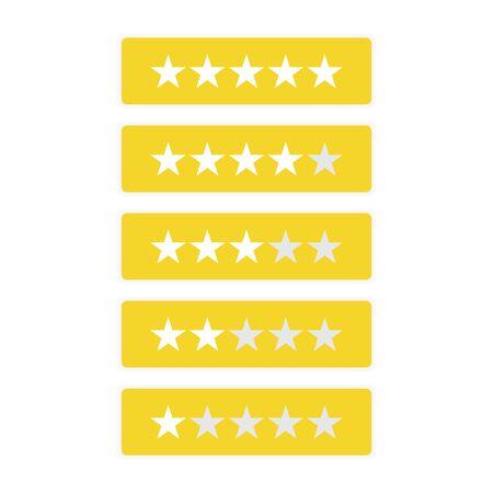 five star business design vector template